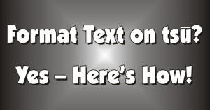 Format text on tsū