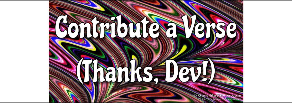 Contribute a Verse