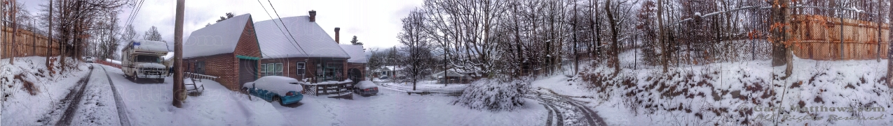 A 360-degree panorama shot taken with my iPhone 4s, using the Cyclorama app.