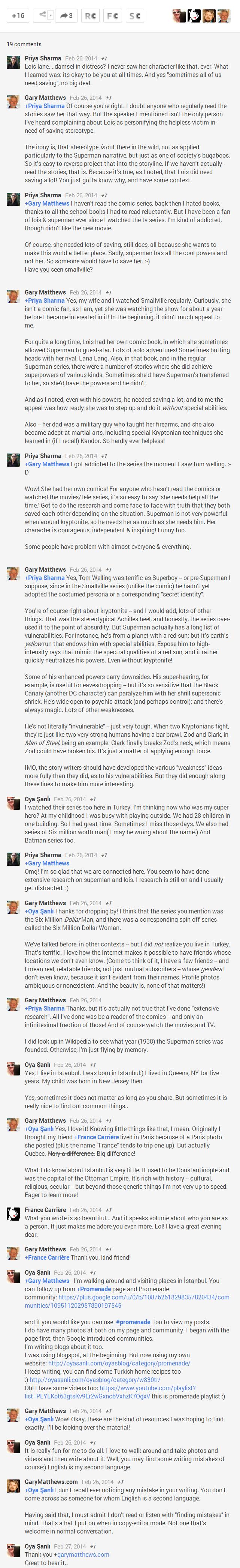 Comments on Lois Lane